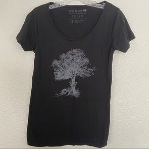 Arbor Black Tree Graphic T-shirt Small
